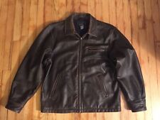 Sonoma Men's Brown Leather Jacket Size M