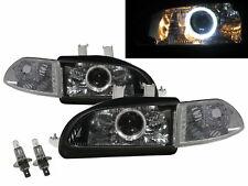 Civic EG/EH/EJ MK5 92-95 Guide LED Angel-Eye Headlight Black V1 for HONDA LHD