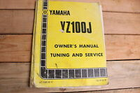 Yamaha YZ100J YZ100 YZ 100 OEM Owners Tuning and Service Manual LIT-11626-03-17