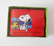 Butterfly Originals 1958, 1965 Peanuts Red Wallet Snoopy & Woodstock Friends
