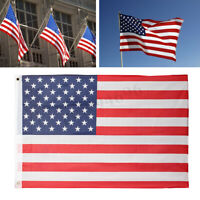 2'x3' FT 90.5x 58cm USA U.S. American Flag Polyester Nylon Stars Stripes