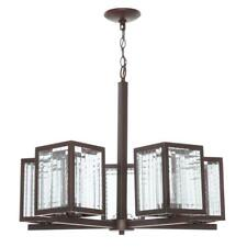 Home Decorators 5-Light Oil Rubbed Bronze Chandelier Etched Glass 702 994