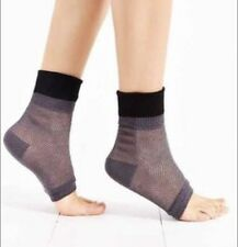 2f3243b0d2a NWT Urban Outfitters Colorblock Mesh Open Toe Socks Yoga Black Gray Anklet  UO