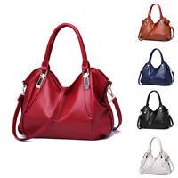 Women's Tote Leather Shoulder Bag Handbag Messenger Crossbody Hobo Purse Satchel