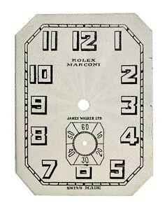 Historical Double ROLEX & Marconi Signed Wristwatch Dial 1920, 100% Original