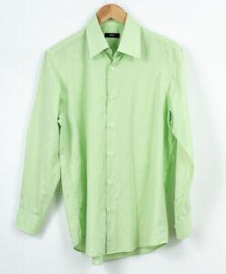 HUGO BOSS Mare: 7 Colletto Camicia 15.5 / Torace 39 Formale Business Verde Uomo