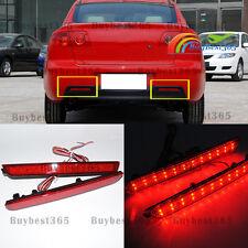 Red Lens LED Tail Brake Stop Light For Mazda 3 Axela 2004 - 09 Bumper Reflector