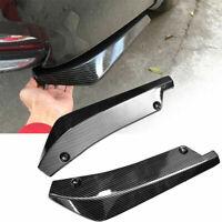 2 pcs Universal Carbon Fiber Rear Bumper Lip Diffuser Splitter Canard Protectors