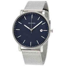 Skagen Hagen Blue Dial Stainless Steel Mesh Men's Watch SKW6327