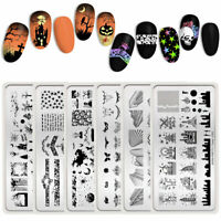 BORN PRETTY Nail Stamping Plates Ghost Nail Art Image Stencil Halloween Design