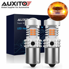 2x AUXITO BAU15S PY21W LED CANBUS Turn Signal Light Bulb Error Free Amber Yellow