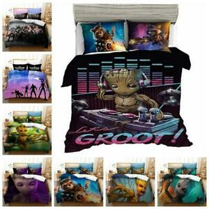 Guardians of the Galaxy GROOT Quilt Duvet Cover Bedding Set Single Double Size