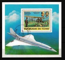 Avions Tchad (1) bloc oblitéré