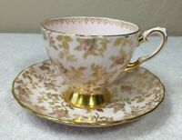 Vintage Fine Bone China Cup and Saucer by Tuscan DuBarry Rose