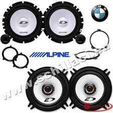 Alpine 6 speakers kit for BMW serie 3 e46 1998-2006 box + spacer rings adapters