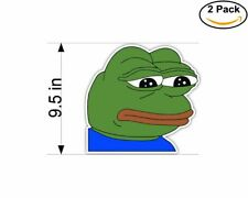 Sad Pepe Frog Meme 2 Stickers 9.5 Inch Sticker Decal