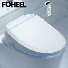 Foheel Smart Toilet Bidet Electric Advanced Toilet Seat Elongated White + Remote