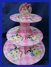 3 Tier Cupcake Stand Cup Cake Cases Toppers Wrappers, Disney Princess