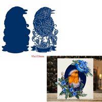 Lovely blue bird Cutting Dies Album Embossing Stencil Craft DIY Scrapbooking