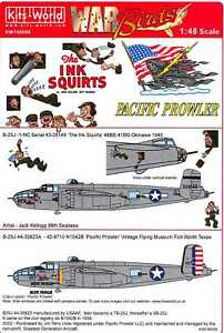 Kits World Decals 1/48 B-25J MITCHELL Bomber Pacific Prowler & The Ink Squirts