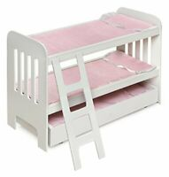 Trundle Doll Bunk Beds w/Ladder
