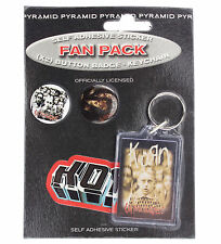 Korn Badges, Keyring & Sticker Fan Pack New & Official Band Merch FP0039