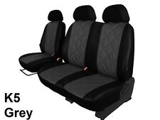 VW CRAFTER VAN 2006-2016 ECO LEATHER EMBOSSED TAILORED SEAT COVERS CUSTOM MADE