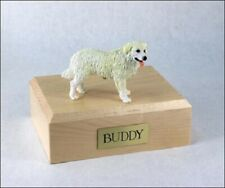 Kuvasz Figurine Stand Dog Pet Cremation Urn Available 3 Different Colors 4 Sizes