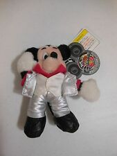 '98 Tokyo Disneyland Super Dancin Mania DISCO MICKEY Club Disney Plush Pin Badge