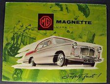 1959 MG Magnette Mark III Sales Brochure Folder Excellent Original 59