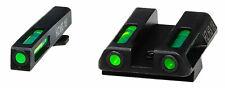 Hiviz Gln321 LiteWave H3 day night sights fits Glock 42/43 tritium/fiber optic