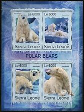 SIERRA LEONE 2016 POLAR BEARS SHEET MINT NH