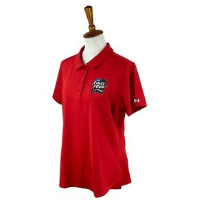 Under Armour Golf Women's Fitted NCAA 2018 Final Four Logo Red NWT Polo Top XL
