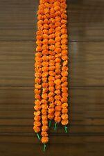Marigold Flower Garland Set of 5 Pcs Garlands 5 Feet Indian Wedding Decoration