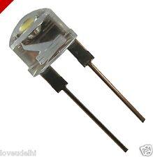 50 pc LED 8 mm 0.5 Watt Straw Hat LED White Light FREE 1pc rgb + 1pc 10mm led