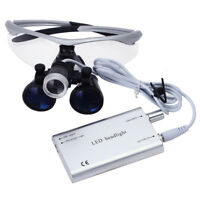 Dental Lab Surgical Magnifier Binocular Loupes 3.5X-R & Dentist LED Head Light
