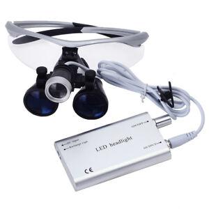 Dental Lab Surgical Magnifier Binocular Loupes 3.5X-R & Dentist LED Head Light