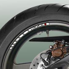 8 X Suzuki Rueda Llanta Stripe Stickers-Gsxr 600 750 1000 Bandit V-strom Sv S R