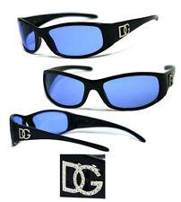 DG Mens Fashion Sunglasses Free Pouch - Blue Lens #DG83