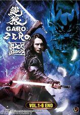 ANIME DVD Garo Zero-Black Blood 絶狼 Vol. 1-6 End Fanged Wolf + Free 1 Anime DVD