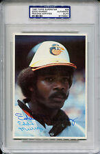 1980 Topps Superstar EDDIE MURRAY Signed Rare Jumbo Card Slabbed Auto PSA/DNA