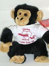 Personalised Teddy Bear Monkey Gift Valentine, Anniversary, Engagement Wedding