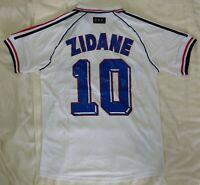 1998 France 10 ZIDANE retro classic soccer football team away t-shirt jersey tw