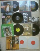 Lot Of 7 Merle Haggard Vinyl Albums.  Sing the Great Songs And More See Pics.