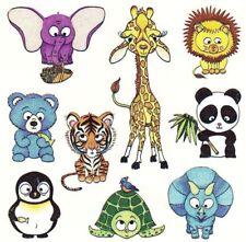 ~ Baby Animals Lion Giraffe Elephant Turlte Paper House StickyPix Stickers ~