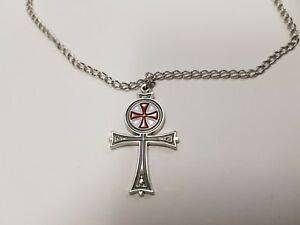 Knights Templar Templar Ankh Pendant With Chain, Masonic Nickel Free Chain