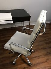 J&M Furniture Y Plush High Back Adjustable Leatherette Office Chair (White)