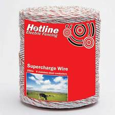 HOTLINE SUPERCHARGE WIRE 250M 6 STAINLESS STEEL CONDUCTORS FENCING FENCER FENCE