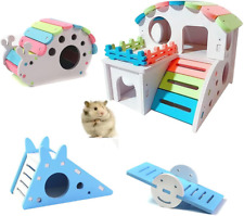 New listing Yuekua Hamster Hide Toys, Snail House, Ladders, Seesaw Hamster Cage Accessories,