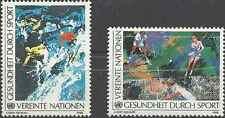 Timbres Sports d'hiver Ski Tennis Nations Unies Vienne 85/6 ** lot 5304
